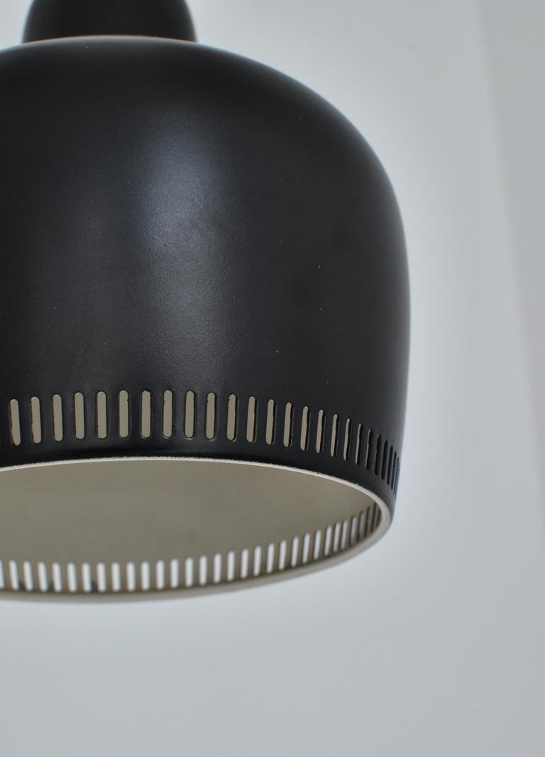 Aluminum Alvar Aalto Pendant Wall Lamp, Louis Poulsen, 1960s Scandinavian Modern For Sale