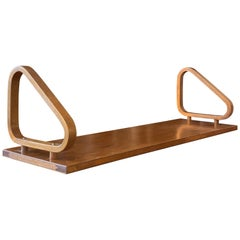 Alvar Aalto, Rare Wall Shelf, Stained Bentwood Birch, for Artek, Finland, 1950s