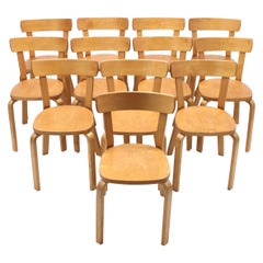 Alvar Aalto, Set of 12 Chairs, Model 69, for Artek Hedemora, circa 1950