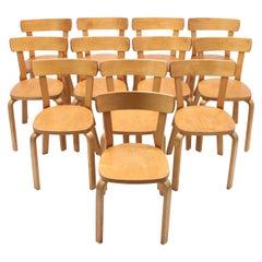 Alvar Aalto, Set of 12 Chairs, Model 69, for Artek Hedemora, circa 1950