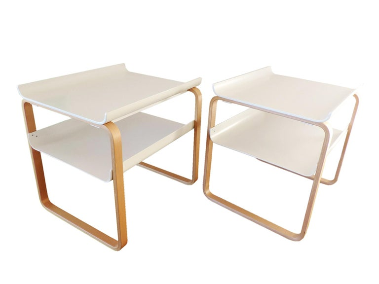 Simple, elegant, timeless Finnish side tables which can be used beside a sofa or used as a bedside tables. 