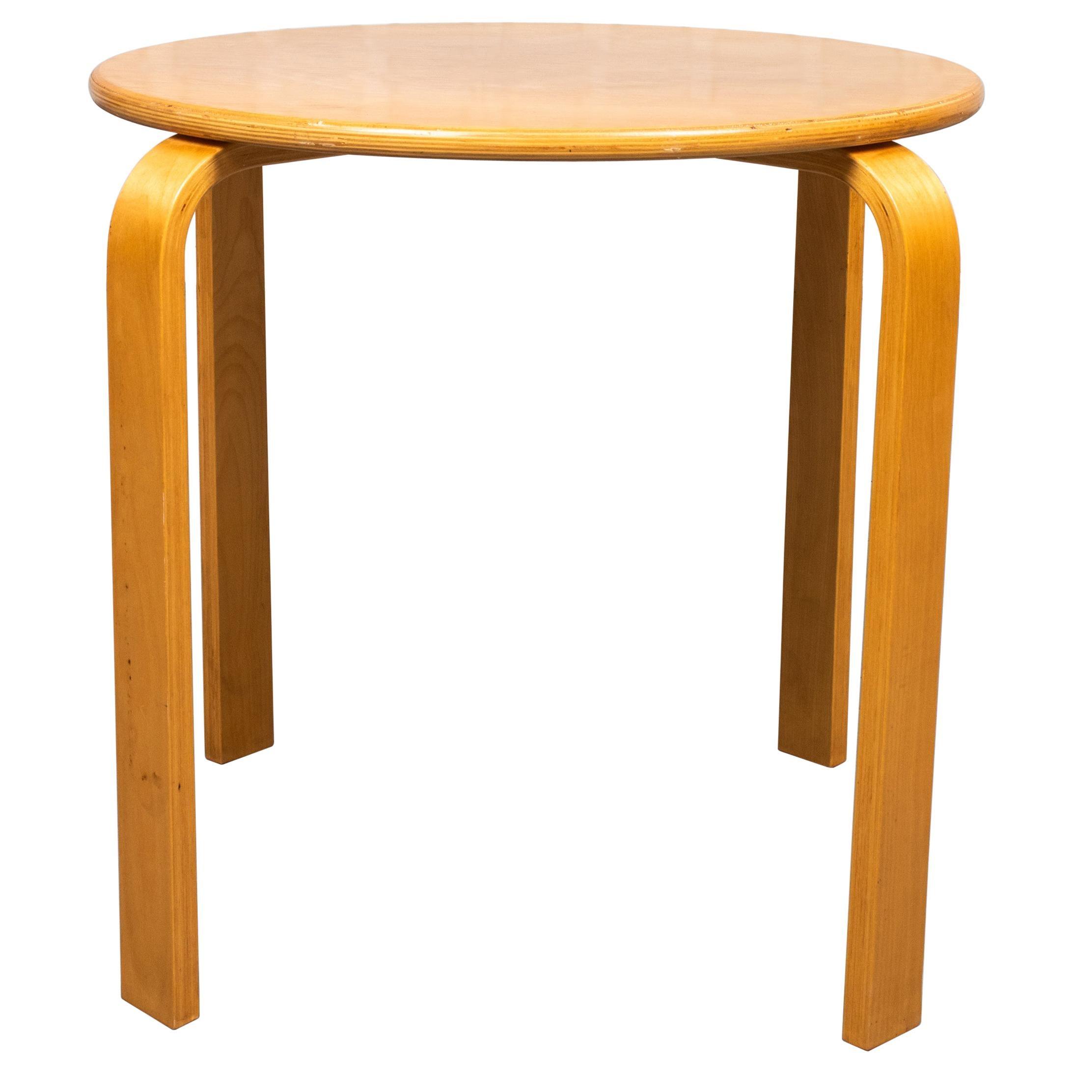 Alvar Aalto Style Mid-Century Modern Side Table