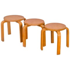 Alvar Aalto Style Small Stacking Stool