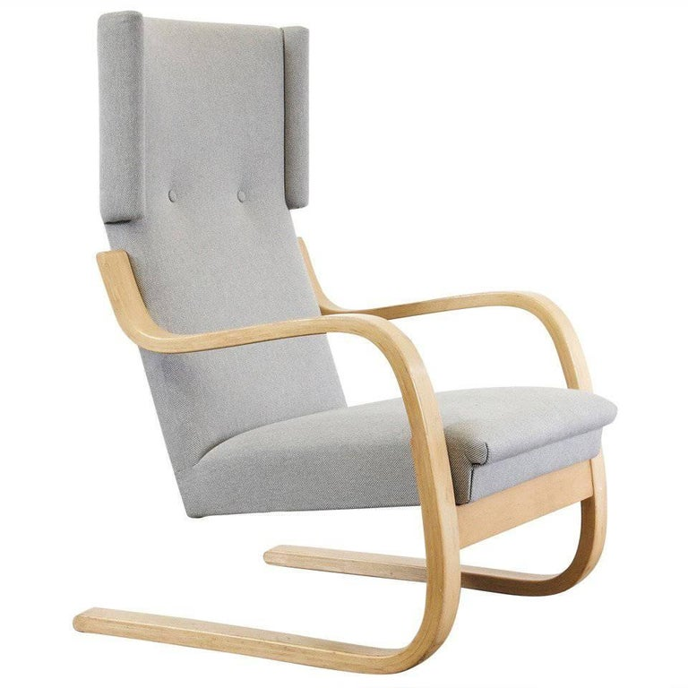 Alvar Aalto Wingback Lounge Chair, circa 1950 For Sale