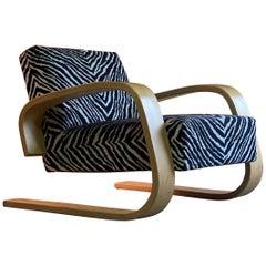 Alvar Aalto Zebra Tank Chair Model 400 by Artek, Finland, circa 1970