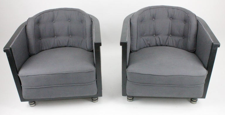 Scandinavian Alvar Andersson, Pair of Swedish 1930s Lounge Chairs For Sale