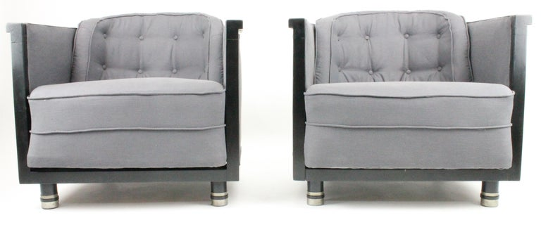 Painted Alvar Andersson, Pair of Swedish 1930s Lounge Chairs For Sale