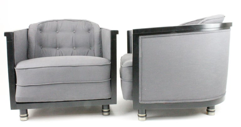 Mid-20th Century Alvar Andersson, Pair of Swedish 1930s Lounge Chairs For Sale