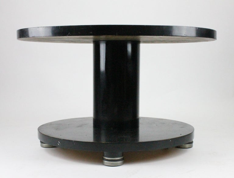 Alvar Andersson Table, 1933, Swedish, Black Painted with Pewter Inlays For Sale 6