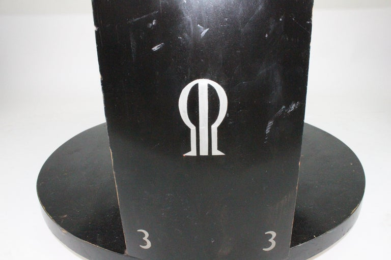 Alvar Andersson Table, 1933, Swedish, Black Painted with Pewter Inlays For Sale 10