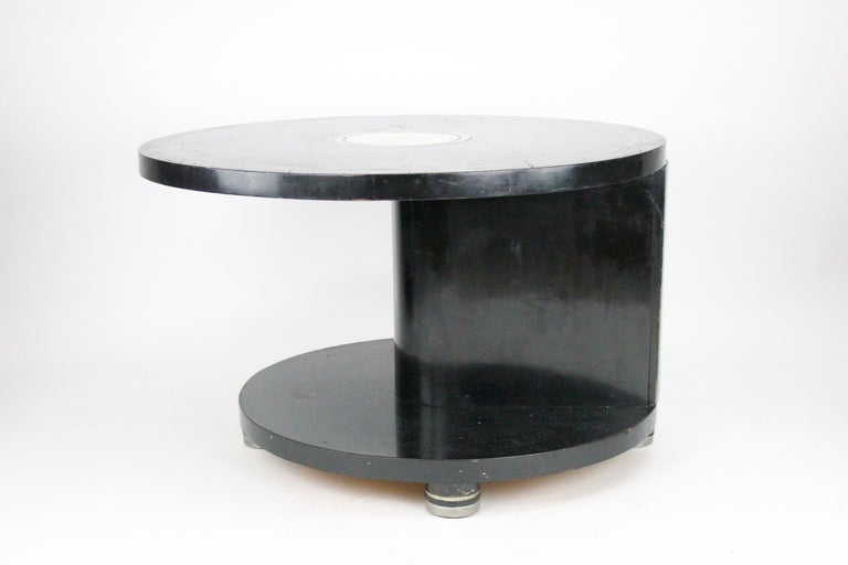 Alvar Andersson Table, 1933, Swedish, Black Painted with Pewter Inlays For Sale 13