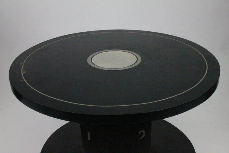 Alvar Andersson Table, 1933, Swedish, Black Painted with Pewter Inlays For Sale 1