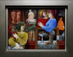 """""""Nudes"""", Alvar Sunol, Original, Oil on Board, 20x28"""