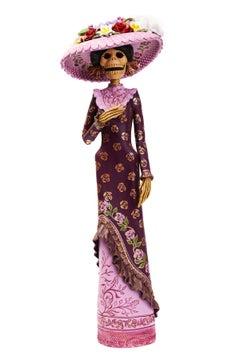 Catrina en Día de Muertos - Ceramic Sculpture - Mexican Folk Art - Cactus Fine A