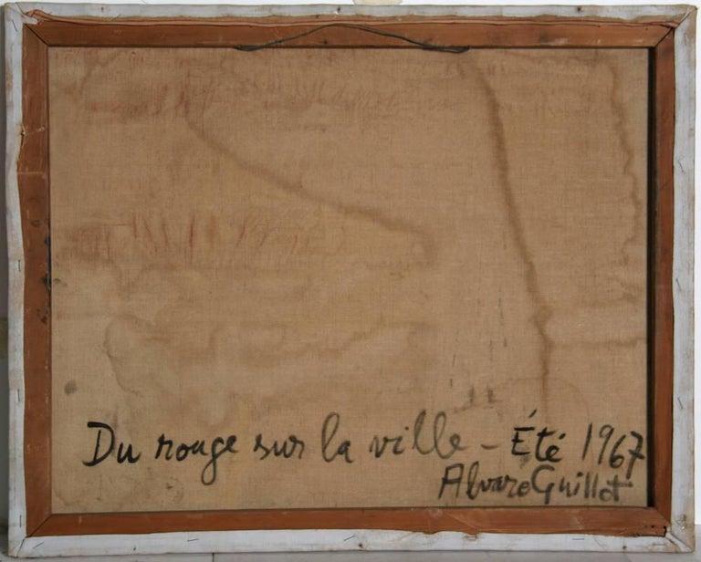 De Rouge sur la Ville, Oil Painting by Alvaro Guillot For Sale 1
