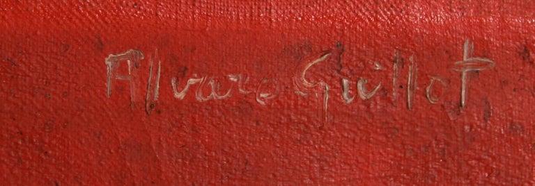 De Rouge sur la Ville, Oil Painting by Alvaro Guillot For Sale 2