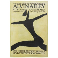 Alvin Ailey Lithograph Poster by Michael Hampton, 1974