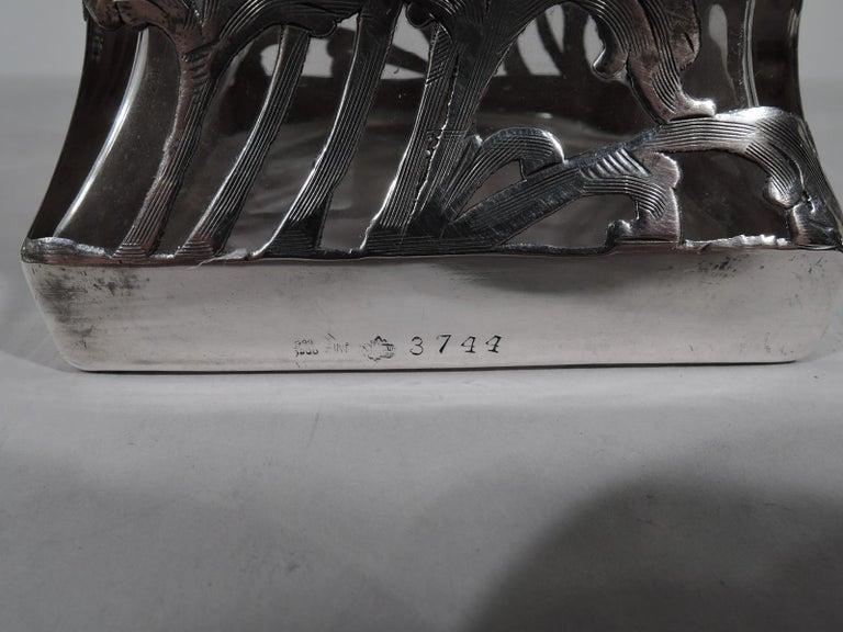Alvin American Art Nouveau Silver Overlay Decanter For Sale 1