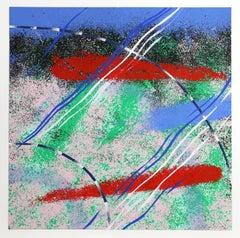 Wild Goose Lake Series 1, Abstract Silkscreen by Al Loving