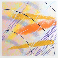 Wild Goose Lake Series 2, Abstract Silkscreen by Al Loving