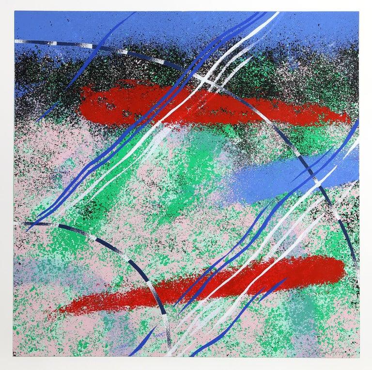 Wild Goose Lake Series, Three Abstract Silkscreens by Al Loving - Print by Alvin Loving, Jr.