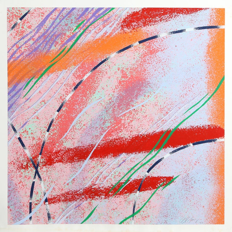 Wild Goose Lake Series, Three Abstract Silkscreens by Al Loving For Sale 2