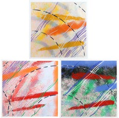 Wild Goose Lake Series, Three Abstract Silkscreens by Al Loving