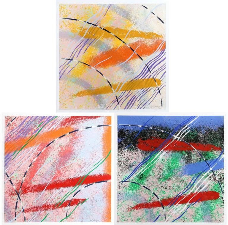 Alvin Loving, Jr. Abstract Print - Wild Goose Lake Series, Three Abstract Silkscreens by Al Loving