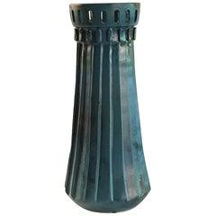 Alvino Bagni Italy Sea Green Vase, circa 1960