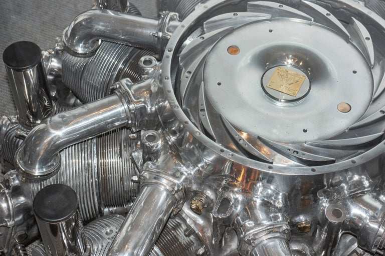 Hand-Crafted Alvis Leonides Aircraft Engine Coffee Table For Sale