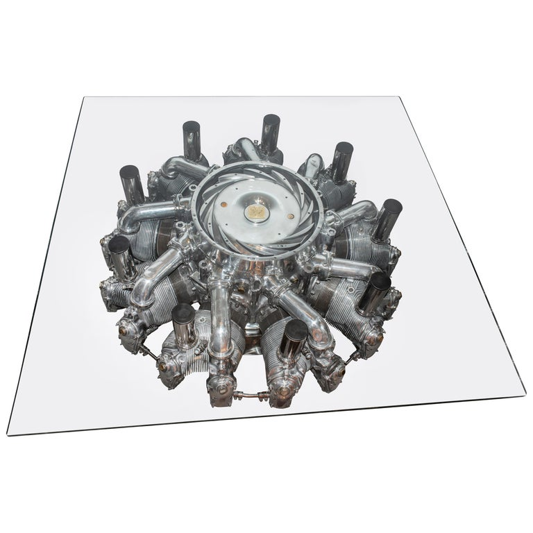 Alvis Leonides Aircraft Engine Coffee Table For Sale