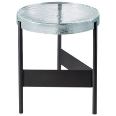 Alwa Two, Table, Transparent, Black Base, European, 21st Century, Minimal