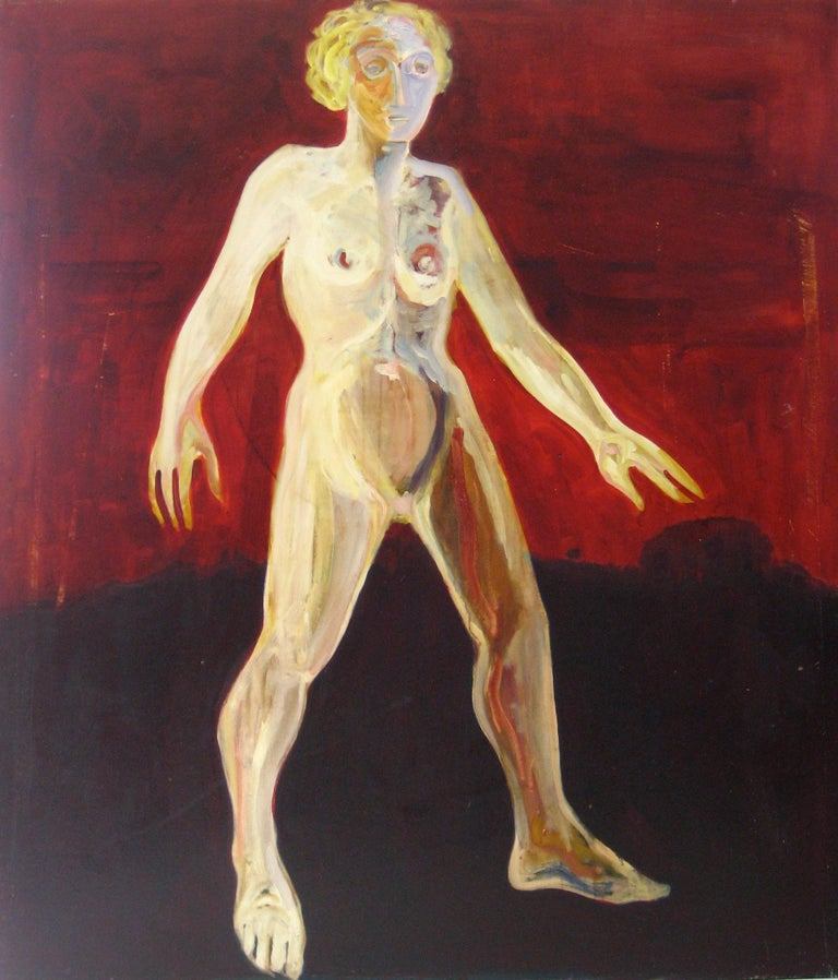 "Alysanne McGaffey Nude Painting - ""Barbara S. Poet"" Bay Area Figurative Portrait in Oil, 1978"