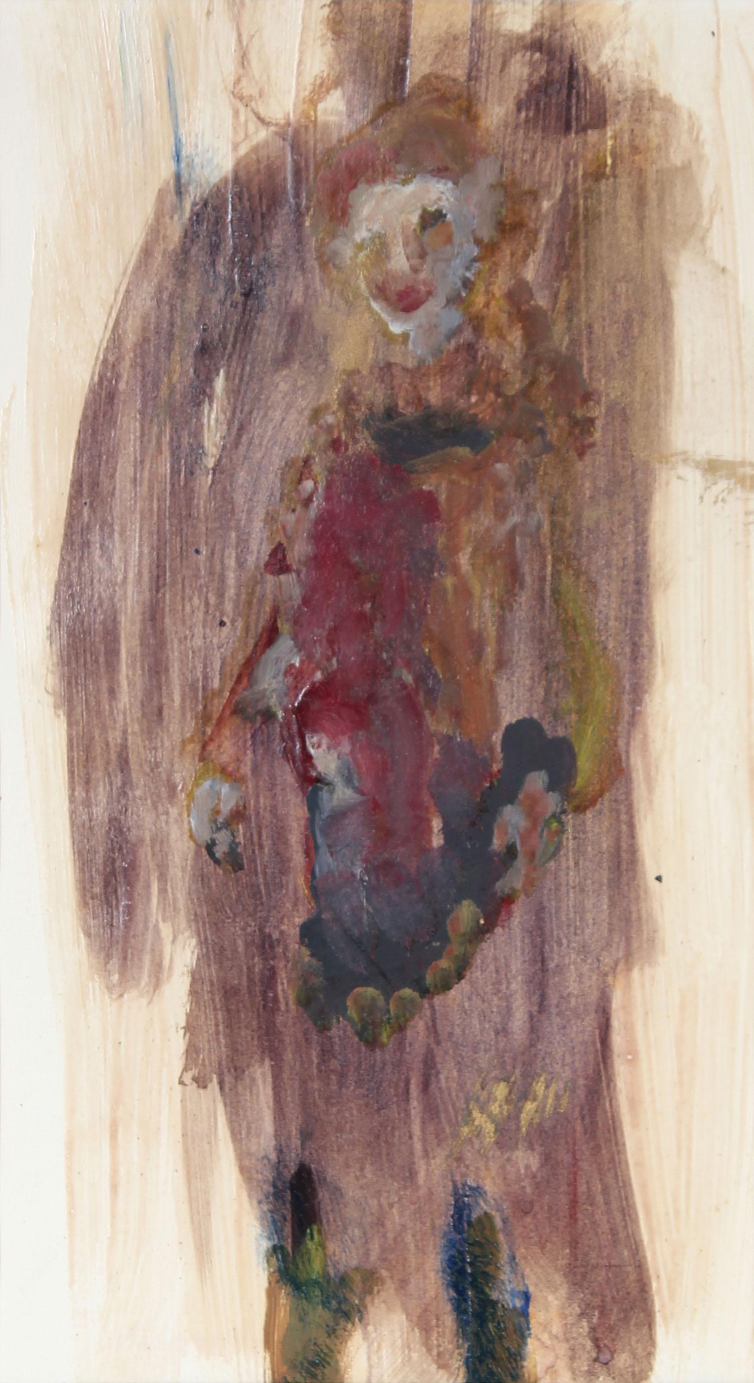 Distemper Painting, Portrait of San Francisco poet Madeline Gleason, Circa 1960s