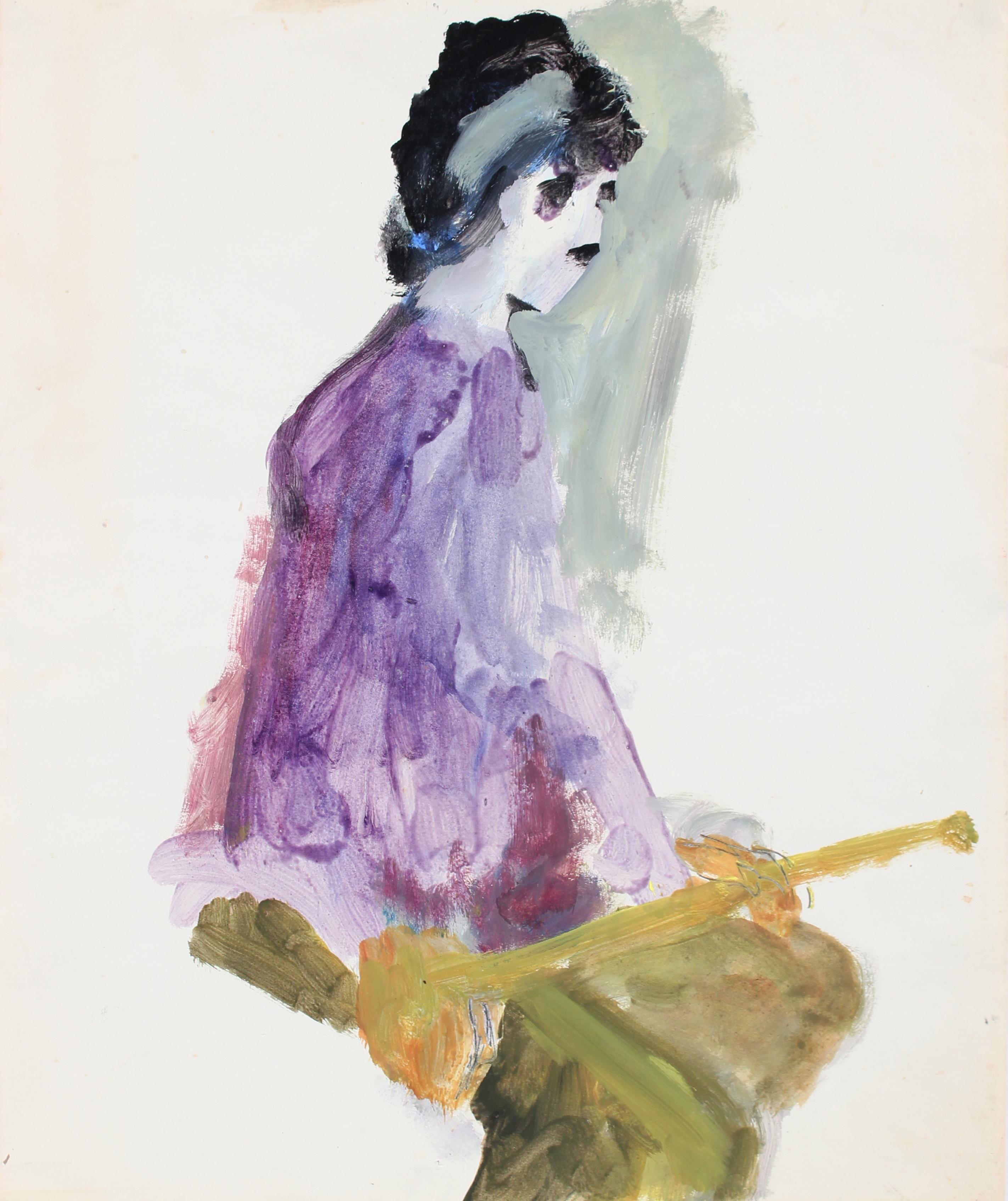 """Female in Lavendar Dress #41"" Bay Area Figurative Portrait"