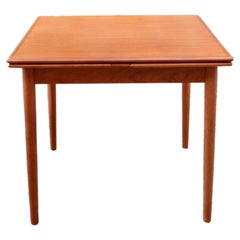 AM Ansager Mobler Danish Teak Dining Table Square extendable