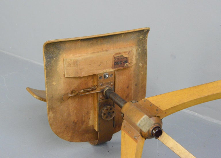 Ama Elastik Factory Chair, circa 1930s For Sale 3