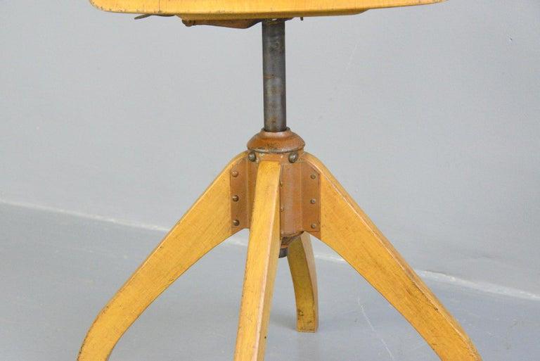 Bauhaus Ama Elastik Factory Chair, circa 1930s For Sale