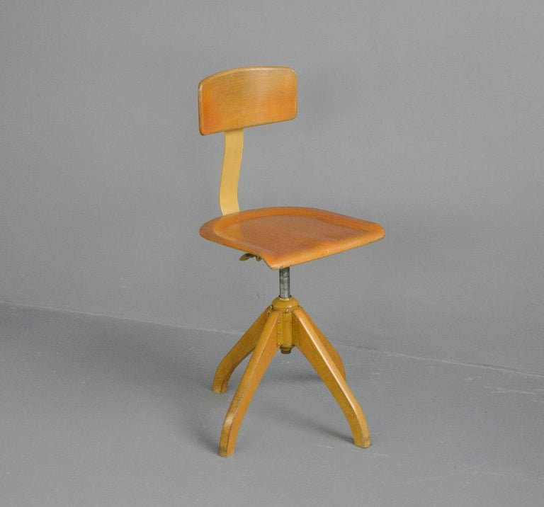 German Ama Elastik Factory Chair, circa 1930s For Sale
