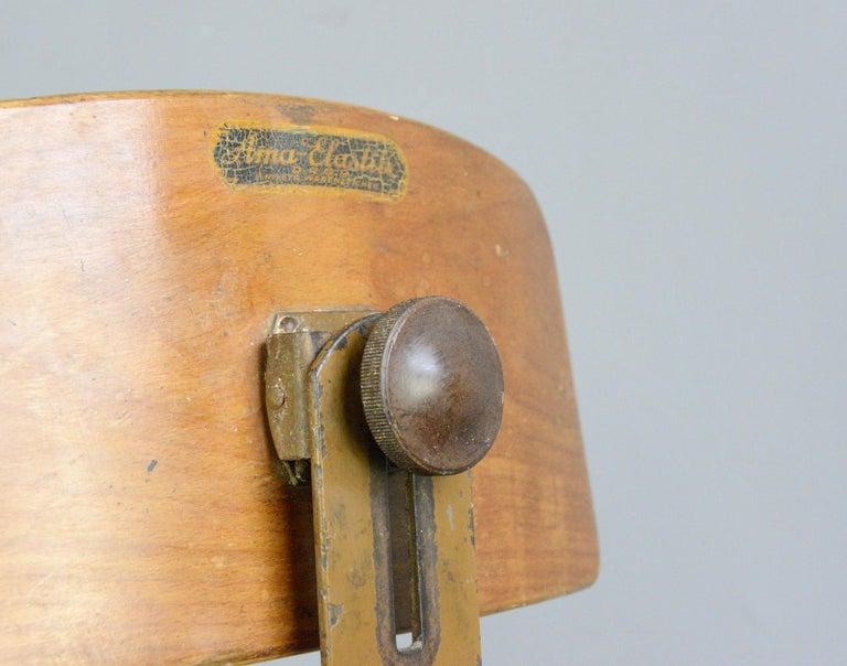 German Ama Elastik Factory Chair, circa 1930s For Sale