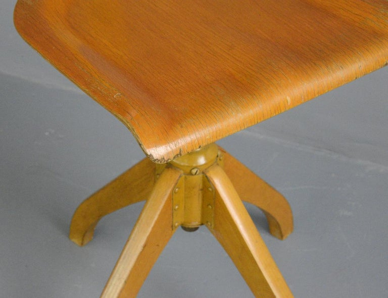 Mid-20th Century Ama Elastik Factory Chair, circa 1930s For Sale