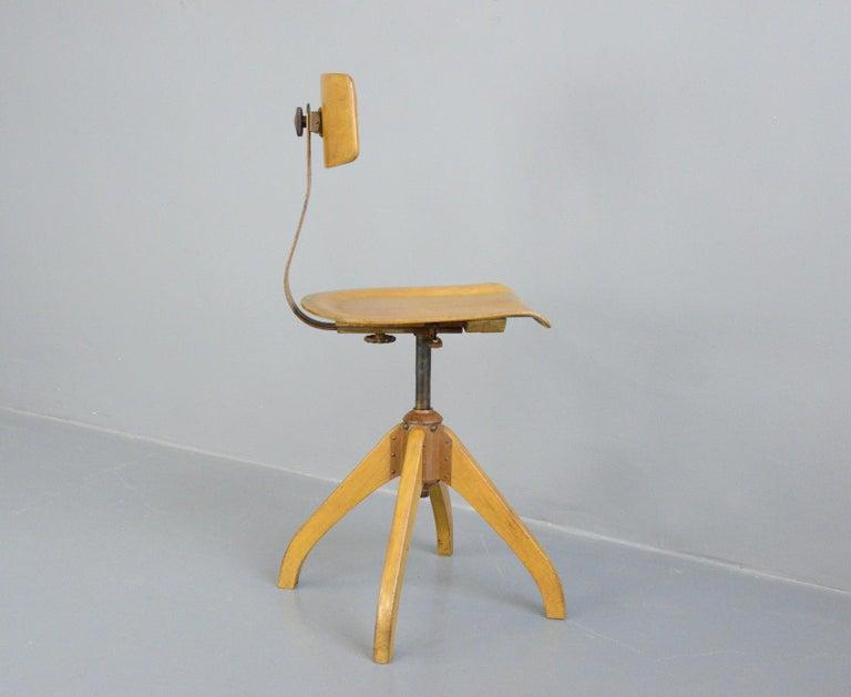 Ama Elastik Factory Chair, circa 1930s For Sale 1