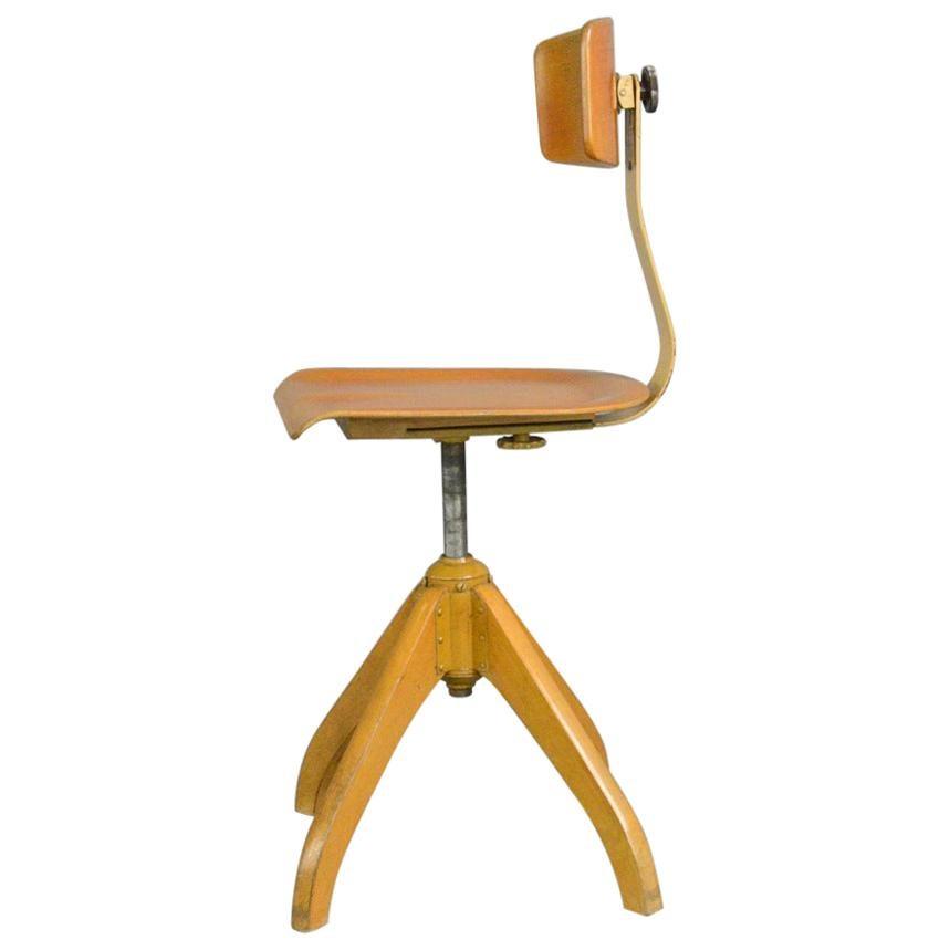 Ama Elastik Factory Chair, circa 1930s