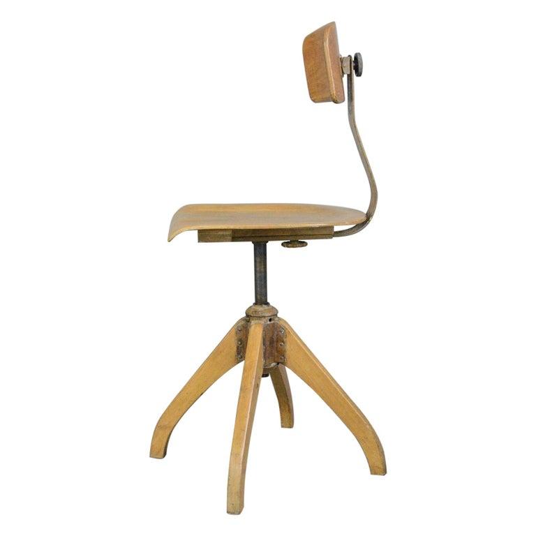Ama Elastik Factory Chair, circa 1930s For Sale