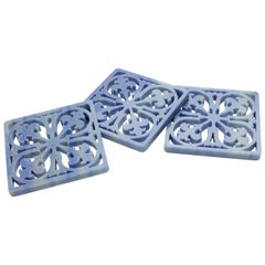 Amalfi Coaster in Azul Macaubas by Pieruga Marble, Made in Italy