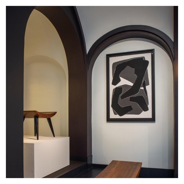 Amalgame Noire, Screen Print, by Reda Amalou Design, 21st Century In New Condition For Sale In Paris, FR