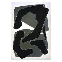 Amalgame Noire, Screen Print, by Reda Amalou Design, 21st Century