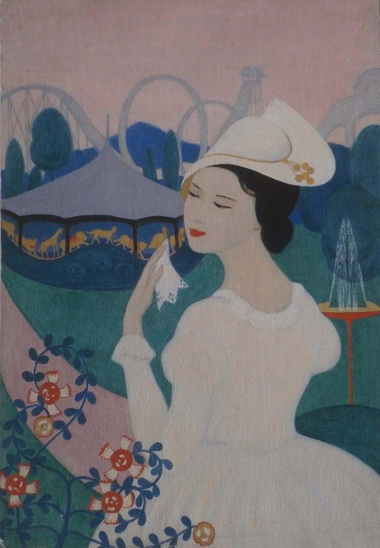 Amalia Ludwig Figurative Painting - AT THE CAROUSEL