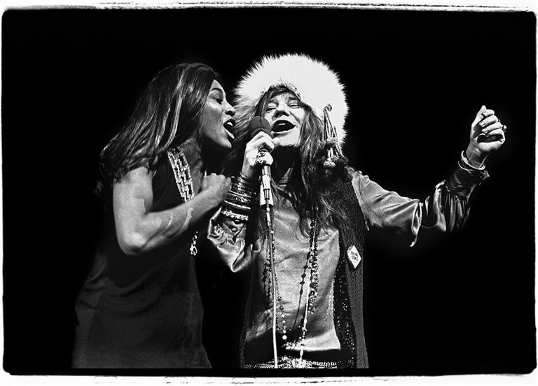 <i>Tina Turner and Janis Joplin</i>, 1969, by Amalie R. Rothschild, offered by Heart of Gold Gallery