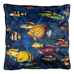 Amami, Contemporary Velvet Printed Pillow by Vito Nesta